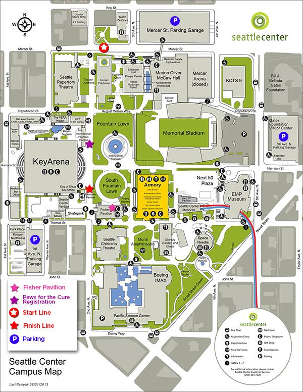 Susan G. Komen® Puget Sound   Maps & Parking